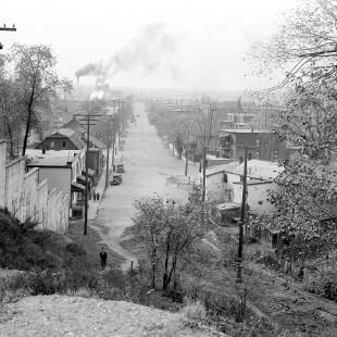 Rue Albert à Ottawa vue des escarpements en 1938