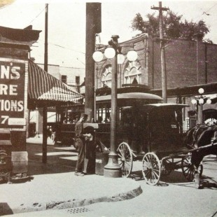 Corner of Bank Street and Gladstone Avenue in Ottawa around 1910