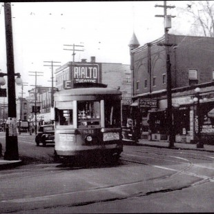 Bank Street and Gladstone avenue intersection around 1940