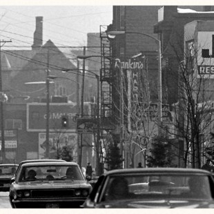 Bank Street between James and Gladstone Avenue in 1970