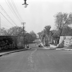 Bronson street in Ottawa near the escarpments in 1938
