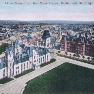South-East view on Downtown Ottawa around 1900