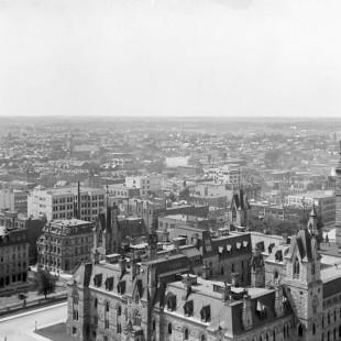Vue du centre-ville d'Ottawa en 1910