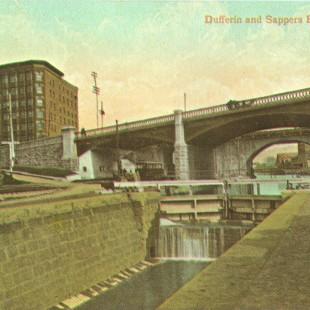 Vue du block Corry à partir du Canal Rideau 1890