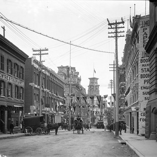 Elgin Street in 1901 looking south