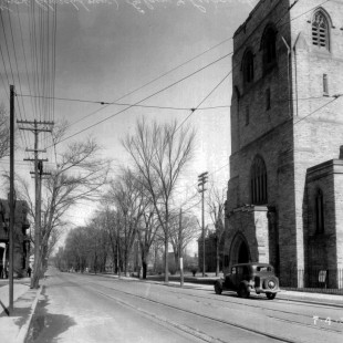 Église Knox sur la rue Elgin en 1938