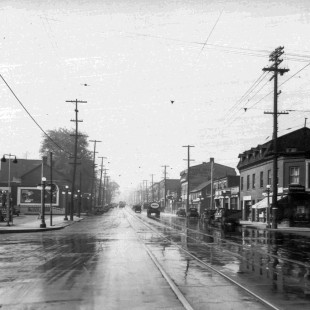 Rue Rideau à la hauteur de King-Edward regard vers l'est vers 1950
