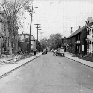 rue Bay direction nord près de Lisgar à Ottawa en 1938