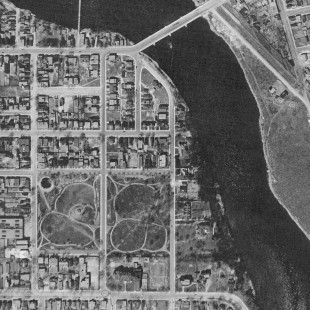 Aerial View of Lowertown East in Ottawa in 1928