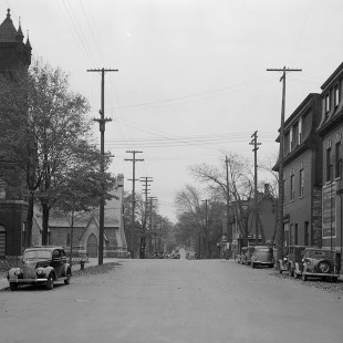Lyon Street Looking South at Queen Street in Ottawa in 1938