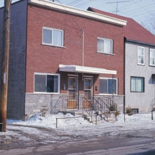 Modest dwellings on Friel Street in Ottawa in 1968