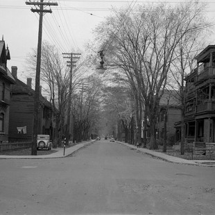 Direction est de l'intersection des rues Lisgar et O'Connor à Ottawa in 1938