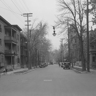O'Connor street at Lisgar looking South in Ottawa in 1938