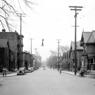 O'Connor Street looking North in Ottawa in 1938