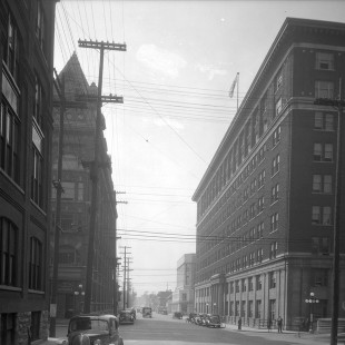 O'Connor Street Looking South with Queen Street in Ottawa in 1938