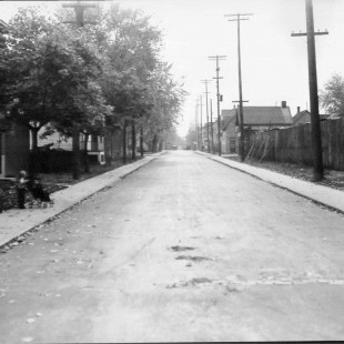 Percy Street @ Lisgar Street Looking South in Ottawa in 1938