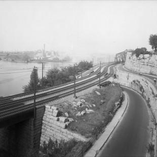 Hull et le pont Alexandra vu de l'ancien pont piéton