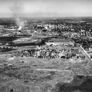 Aerial view of Mechanicsville around 1930