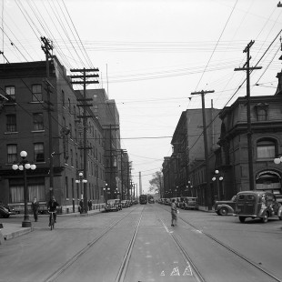 Queen Street at Metcalfe in 1938