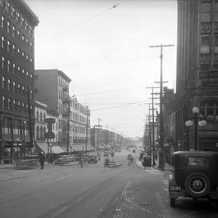 Rideau Street à la hauteur de Sussex in 1938