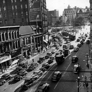 Intersection of Sussex Drive and Rideau Street in 1940