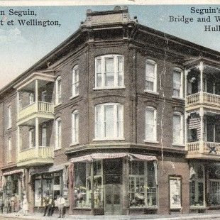 Séguin Store at Wellington and Eddy in Hull in 1910