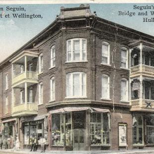 Maison Séguin au coin Wellington et Eddy dans le Vieux Hull en 1910