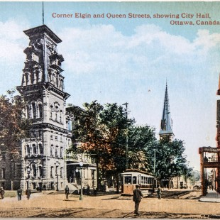 Elgin Street with the former City hall and Grand Union Hôtel