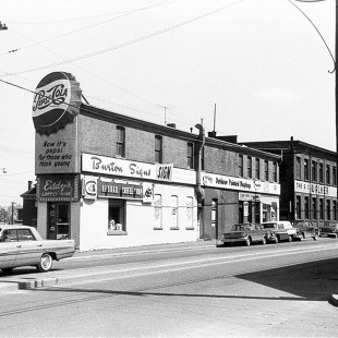 Intersection of Wellington Street and Albert Street in Lebreton Flats in 1962