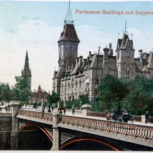 Sappers' Bridge in Ottawa around 1910