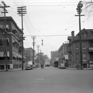 Rue Slater à la hauteur de Metcalfe en 1938