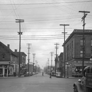 Slater street at Bank Street in Ottawa in 1938