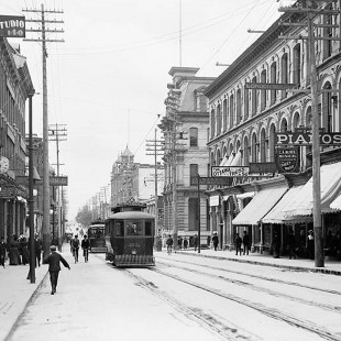 Sparks Street in Ottawa around 1910