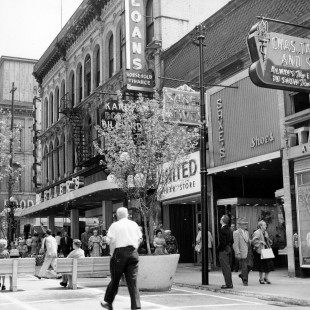 Sparks street of 1968 which was more animated that it is today.