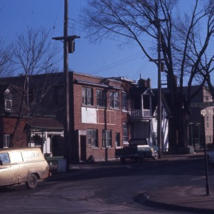 Cobourg and St. Patrick Streets in Lowertown East in Ottawa in 1968