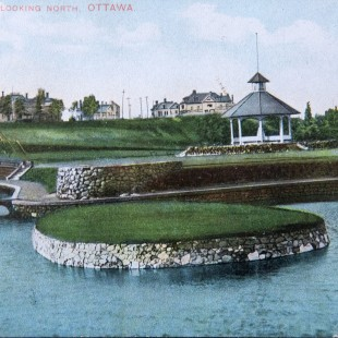 Strathcona Park in Ottawa looking north around 1900