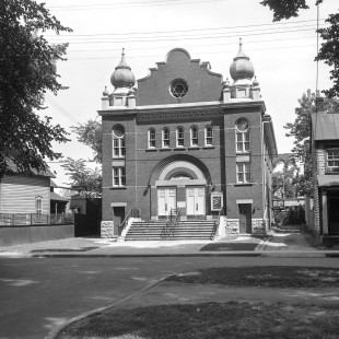 Synagogue sur King-Edward à Ottawa vers 1950.