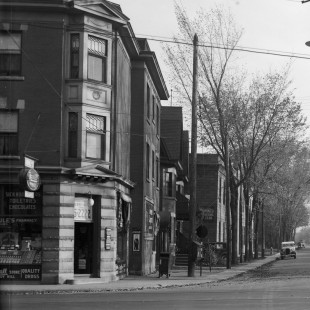 Waller street and Laurier Street in 1938