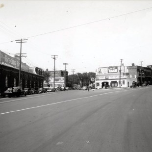 Former Sparks and Wellington Streets intersection in Ottawa in 1938