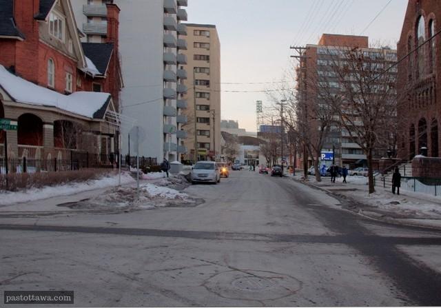 rue Cartier à la hauteur de la rue somerset