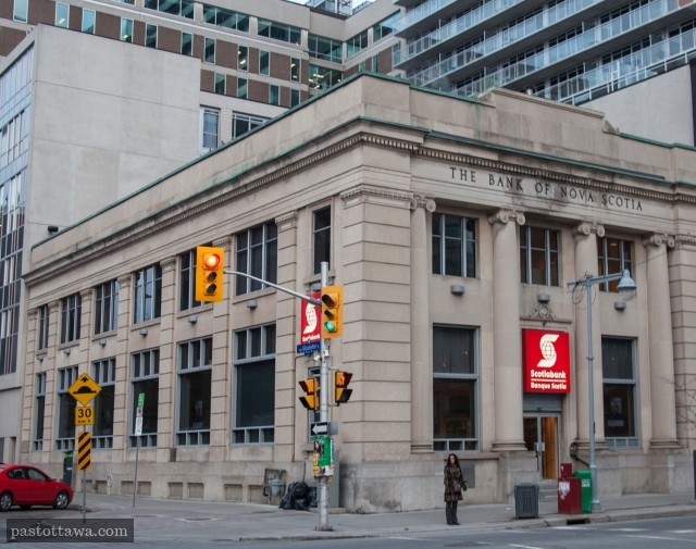 Nova Scotia Bank on Bank street in Ottawa