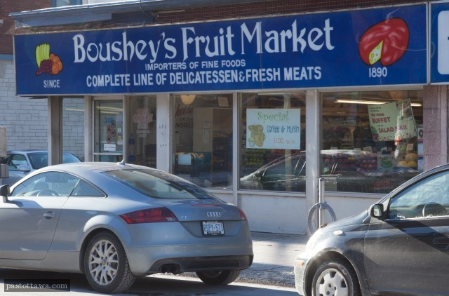 Boushey's corner store on Elgin Street in Ottawa around 2013