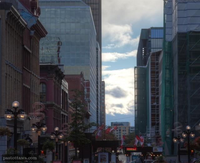 Deserted Sparks Street in 2013