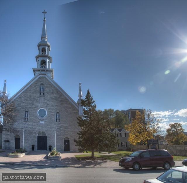 Église Saint-Anne sur l'ancienne rue St-Patrick à Ottawa en 2013