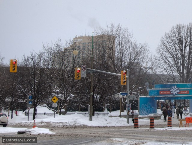 Ancienne Intersection de la rue Elgin et de l'avenue Laurier à Ottawa en 2015