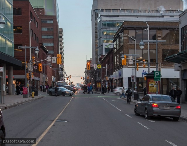 Bank Street @ Laurier in 2013 in Ottawa