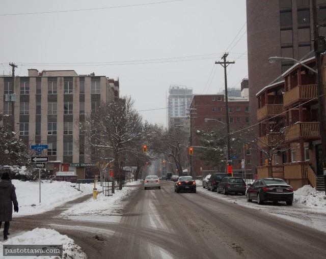 Metcalfe Street at Lewis Street in Ottawa around 2013