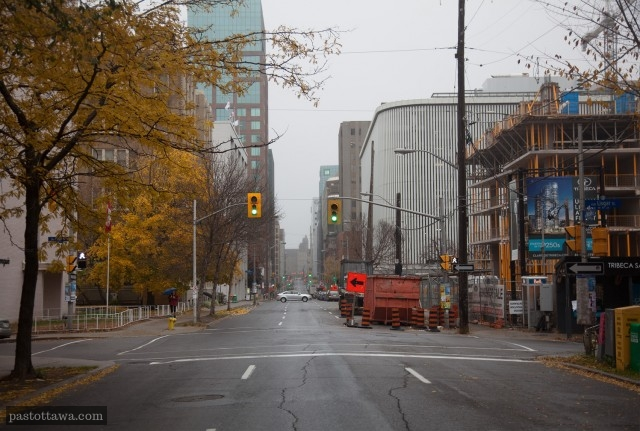 rue Metcalfe à Ottawa à la hauteur de Lisgar