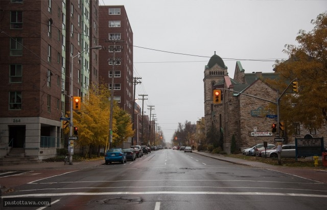O'Connor street at Lisgar looking South in Ottawa in 2012