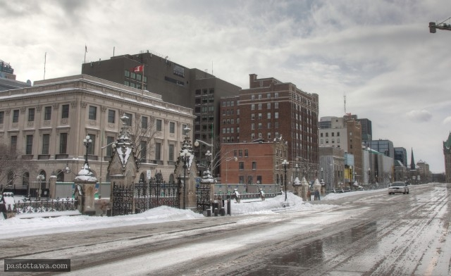 Rue Wellington à Ottawa en 2014